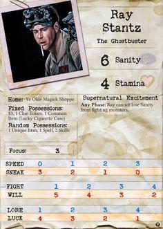 Ray Stantz - Arkham Horror Custom Character