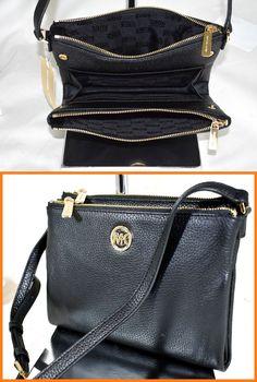 NWT Michael Kors Fulton Black Leather Large Crossbody Bag Handbag    Clothing, Shoes \u0026 Accessories, Women\u0027s Handbags \u0026 Bags, Handbags \u0026 Purses    eBay!
