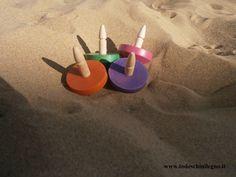 #trottola #trottola colorata #spiaggia #trottolelegno #legno #made in italy #myshopwood.com