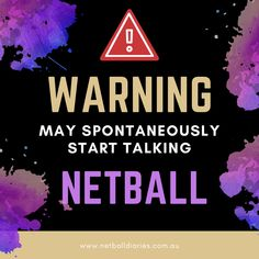 Warning may spontaneously start talking netball Netball Coach, Digital Diary, Booklet, Diaries, Coaching, Encouragement, How To Plan, Sport, Deporte