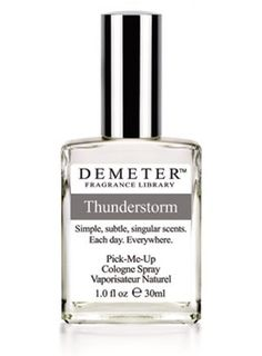 Thunderstorm Demeter Fragrance for women and men...  Thunderstorm is a fragrance which represents the strong and rough side of nature, thunder of summer storm.