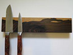12 magnetic knife rack knife holder  Cloud pattern ziricote by EEKnives