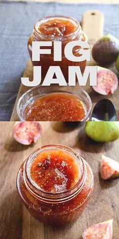 Fig Jam Recipe - How to make Fig Jam, Homemade jam, french jam recipe, fig jam made from scratch, fig jam uses and recip Fig Recipes, Jelly Recipes, Canning Recipes, French Recipes, Dessert Recipes, Canning Tips, Crepe Recipes, Burger Recipes, Homemade Fig Jam