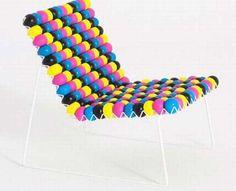 Rubber ball chair