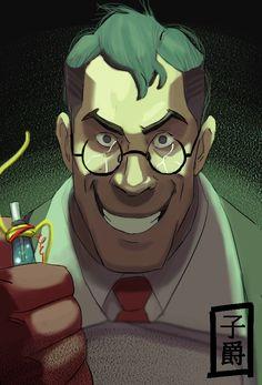 Medic Evil by Amely14128.deviantart.com on @DeviantArt