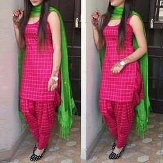 Patiala dress - Cotton Self Design Plain Patiala Suit (Pink) Patiala Suit Designs, Salwar Designs, Kurta Designs Women, Kurti Designs Party Wear, Blouse Designs, Plain Kurti Designs, Punjabi Suit Neck Designs, Patiala Dress, Salwar Kameez