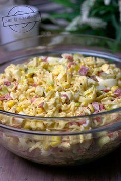 Sałatka z makaronem chińskim i jajkami – Smaki na talerzu Good Food, Yummy Food, Tortellini, Kraut, Pasta Salad, Cabbage, Food And Drink, Healthy Recipes, Vegan
