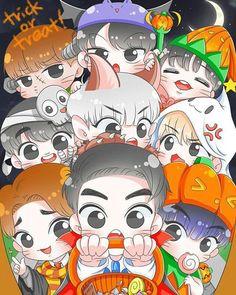 ChiBi : Photo EXO Chibi Wallpaper, Wallpaper Iphone Cute, Exo Anime, Anime Chibi, Kpop Exo, Kpop Drawings, Cute Drawings, Exo Cartoon, Exo Fan Art