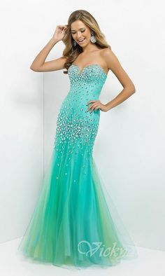 Embellished Sweetheart Tulle Floor Prom Dresses Sale vicky53300