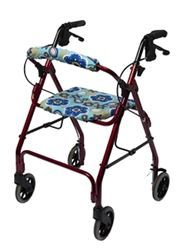 Walker Seat Coverz & Roll Bar Cover.  Great new product with several cute cover designs.  Mobility accessories for rolling walkers, rollators.   Let's the elderly personalize their rolling mobility walker, rollator, making them less institutional looking.