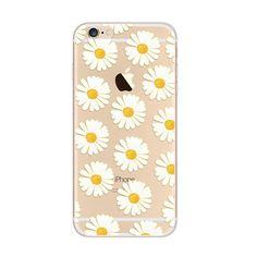 Little Daisy Pattern White iPhone 6s 6 Plus SE 5s 5 Soft Clear Case