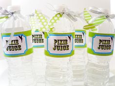 Tinkerbell Pixie Digital Party PRINTABLE DIY Birthday Drink Labels