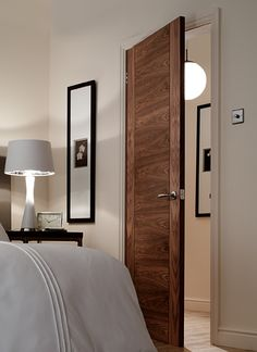 4 Panel V groove Walnut Internal Door