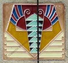 Art Deco style zodiac sign on ceramic tile, Bucharest