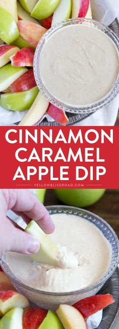 Lightened Up Cinnamon Caramel Apple Dip ~ delicious, sweet, and lighter than traditional caramel dips, this crowd pleasing dip is a kid friendly dessert or snack! Dip Recipes, Apple Recipes, Fall Recipes, Fruit Recipes, Cooking Recipes, Caramel Dip, Caramel Apples, Dessert Dips, Dessert Recipes