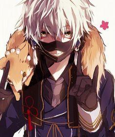 Touken Ranbu discovered by 『ローラ』 on We Heart It Hot Anime Boy, Anime Guy Blue Hair, I Love Anime, Anime Boys, Manga Anime, Manga Boy, Anime Art, Male Manga, Touken Ranbu Nakigitsune