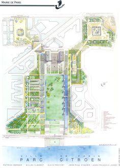 Jean-Paul Viguier Architecture . Projet . Parc André Citroën