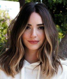 Brown Hair Balayage, Brown Blonde Hair, Hair Color Balayage, Hair Highlights, Ombre Hair, Brunette Hair, Blue Hair, Dark Hair, Haircolor