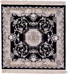 Tabriz Black Area Rug