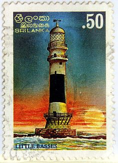 Sri-Lanka.  LIGHTHOUSES OF SRI-LANKA. LITTLE BASSES.  Scott 1147 A516, Issued 1996 Jan 22, Lithogravured, Perf. 12, .50.