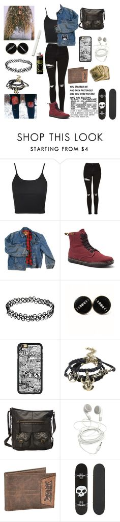 """""""Untitled #405"""" by threedaystoremember ❤ liked on Polyvore featuring Topshop, Wrangler, Dr. Martens, T-shirt & Jeans, Levi's, Zero and Love Quotes Scarves"""