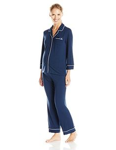 d0e76e851381 Nautica Sleepwear Women s Knit Viscose Pajama Set