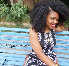 Long 4c hair. @igbocurls