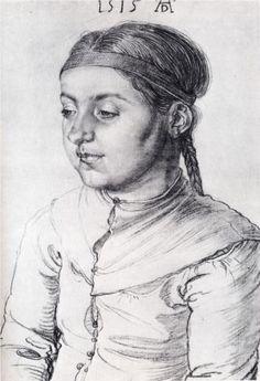 Portrait Of A Girl   Albrecht Durer  1515