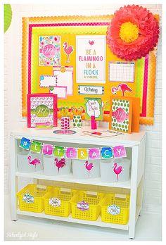 Schoolgirl Style Flamingo Watercolor classroom theme