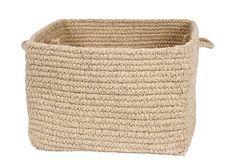 """18"""" Square Wool Basket, Light Beige on OneKingsLane.com"""
