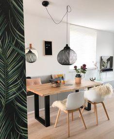Home Decoration Design Ideas Info: 1389454820 Ikea Dinning Room, Dining Nook, Home Room Design, Dining Room Design, Interior Design Living Room, Sage Living Room, Small Living Dining, Ikea Interior, Home Decor Kitchen