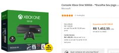 Console Xbox One 500Gb + Escolha Seu Jogo >