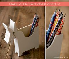 How to make your own paper pencils!