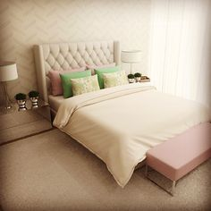 Bedroom #interiordesign #interiors #design #decor #fabrics #home #homedecor #homedesign #instacool #style #colors #relax #designdeinteriores #casa #decoração #quarto #tecidos #conforto #cores #tgvinterioresfoz #tgvinterioresgaia #tgvinterioreslisboa #tgvinterioresluanda #tgvinterioresmindelo #tgvinteriorescascais