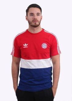 Adidas Originals Apparel Bayern Tee - White