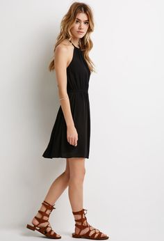 Crinkled Crepe Halter Dress | Forever 21 - 2000079588