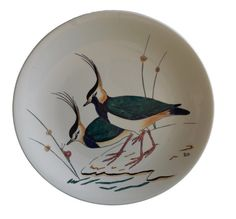 Antique French Gien Majolica Plate - Hand Painted Dinner Plate - Decorative Bird Wall Plate - French Country Cottage