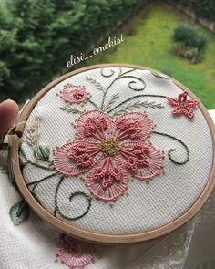 Marvelous Crewel Embroidery Long Short Soft Shading In Colors Ideas. Enchanting Crewel Embroidery Long Short Soft Shading In Colors Ideas. Crewel Embroidery Kits, Embroidery Supplies, Embroidery Patterns Free, Ribbon Embroidery, Floral Embroidery, Fabric Patterns, Cross Stitch Embroidery, Embroidery Designs, Brazilian Embroidery