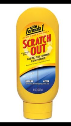 Formula 1 Scratch Out paste polishing compound removes the toughest paint problems. Formula 1 Scratch Out repairs and restores exterior surfaces with micro polishing technology. Scratch Out paste comes in an 8 oz. squeeze bottle for easy application. How To Make Paint, How To Remove, Restore Paint, Best Deals On Laptops, Coat Paint, Car Cleaning, Paint Finishes, Formula 1, Past