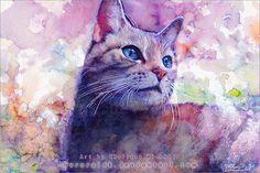 cat watercolors