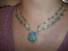 Painted on necklace by Geneva Lobato-Mitchell