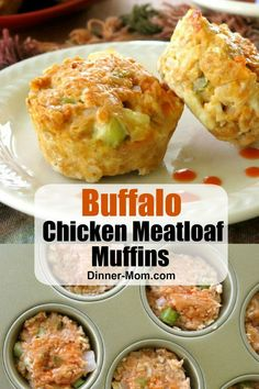 Buffalo Chicken Meatloaf Muffins - wing-inspired flavors are perfectly portioned using a muffin tin. A n easy and healthy recipe the entire family will love! Chicken Meatloaf, Best Meatloaf, Gluten Free Recipes, Healthy Recipes, Healthy Foods, Gluten Free Lasagna, Meatloaf Muffins, Low Carb Appetizers, Keto Friendly Desserts