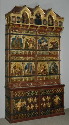 Ladies and Animals Sideboard painted by Edward Burne-Jones ( - Google Search