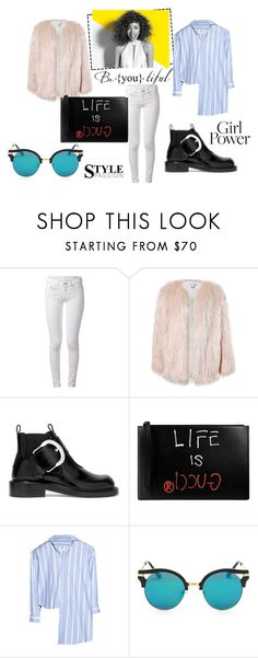 """Untitled #70"" by hellen-an ❤ liked on Polyvore featuring rag & bone, Sans Souci, Maison Margiela, Gucci, Vetements and Paul Mitchell"