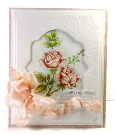 Sympathy card created by Linda Duke using Just Rite Clear Stamps and posted on her blog Linda's Works of Heart