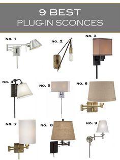 Marvelous Best Plug In Sconces 3a Design Studio