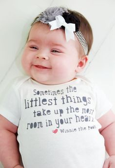 Sometimes the littlest things take up the most room in your heart. Winnie the Pooh inspired baby Onesie or Toddler Tee by ShopTheIttyBitty, $18.00