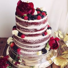 60 ideas for wedding cakes red velvet rustic Red Velvet Birthday Cake, Red Velvet Wedding Cake, Red Wedding, Red Cake, Wedding Rustic, Wedding Ideas, Pretty Cakes, Beautiful Cakes, Bolo Nacked