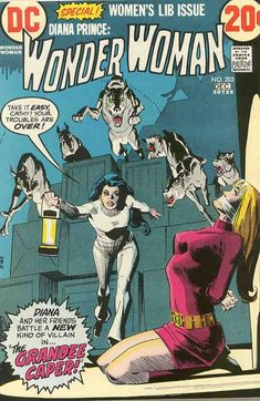 Diana Prince's Emma Peel phase approaches its demise. Wonder Woman #203. #Wonder Woman