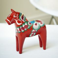Red Swedish Dala Horse... Have a whole assortment of these, just love them!